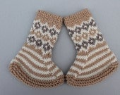 Reserved for Sonia Johnsen. Hand Knit Fair Isle Baby Booties.