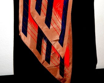 Vintage Vera Scarf, 7 inches wide, 60 inches long, Beautiful Colors