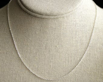 Necklace Chain. Silver Plated Chain. Cable Chain. Silver Chain. Adjustable Chain (16 inch - 18 inch length)