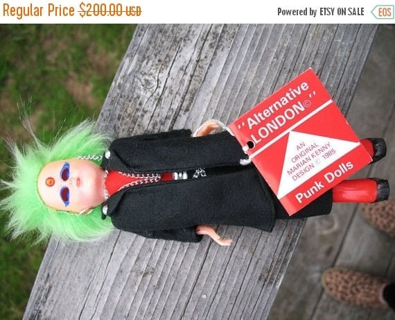 PUNK Is  Not Dead Mint Condition Alternative London  Original Marian Kenny Design Highly Collectible Punk Doll 1985