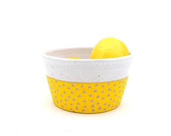 Ceramic Yellow Scoop Bowl