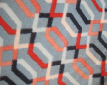 Handmade 2 Layer Geometric Shapes with Navy Blue Blanket