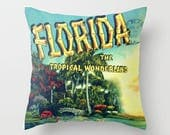 Colorful Beach House Pillow Covers,  Florida Housewarming Gift, Beach House, Florida Housewarming Gift,  Colorful Throw Pillows, Old Florida