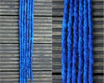 Blue SE x 6 Crochet Synthetic dreads - accent