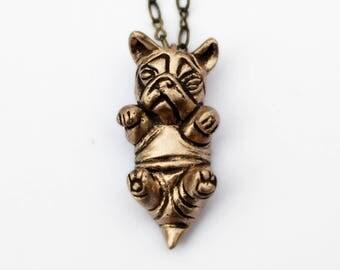 French bulldog puppy pendant