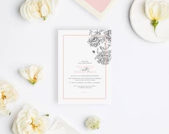 Wedding Invitation Sample - The La Jolla Suite