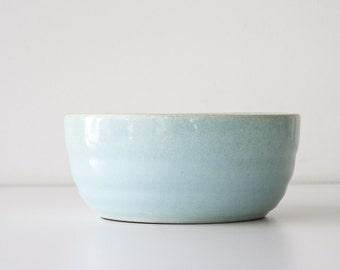 Vintage Aqua Blue Bauer Pottery Bowl