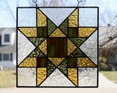 Stained Glass Suncatcher Quilt Block Northumberland  Star