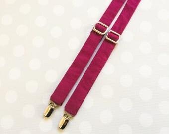 Suspenders for Boys - Boys Suspenders - Boys Accessories - Boys Outfits - Plum Suspenders -Suspenders - Boys Accessories - Purple Suspenders
