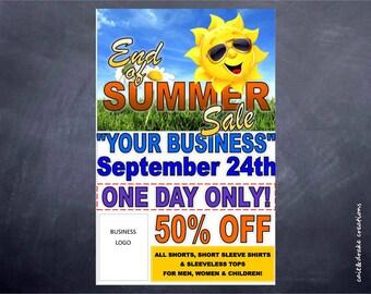 Summer Store Business Sale Flyer Digital Printable