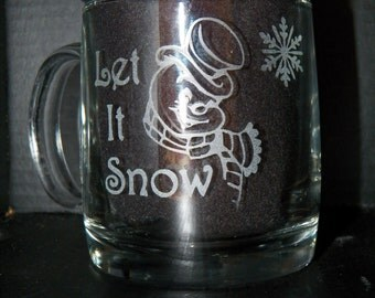 Let it Snow Coffee Mug set of 4
