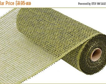 18% OFF 10 Inch Olive Green Poly Burlap Mesh RP810089, Deco Mesh Supplies