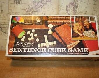 Sentence Cube Game - Scrabble - item #2479