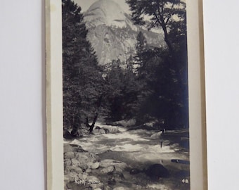 El Capitan Yosemite Pillsbury RPPC Actual Photo Circa 1910-1920  Vintage Postcard #13