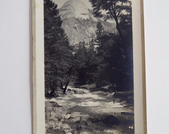 North Dome Merced River Yosemite Pillsbury RPPC Actual Photo Circa 1910-1920  Vintage Postcard #13