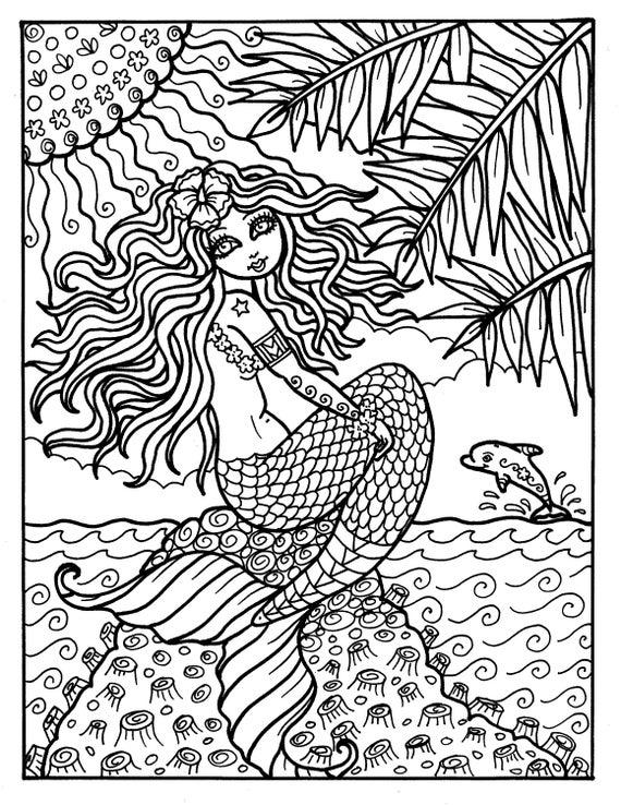 Instant Download Digi Stamp Mermaid