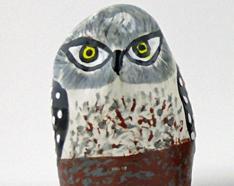 Ceramic Owl Sculpture, Small Ceramic Owl, Animal Art, Bird Art, Ceramic Bird, Small Birds, Ceramic Animals, Decorative Birds, Painted Birds