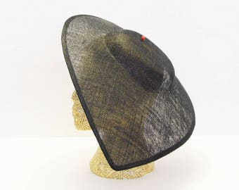 Large pointed teardrop hat - Black