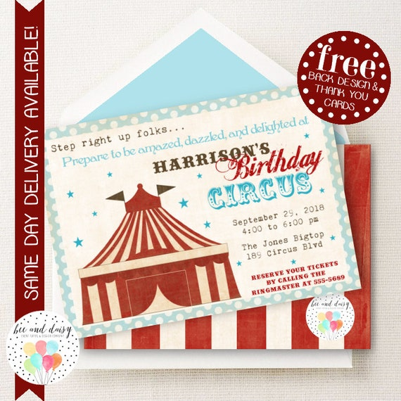 Circus Invitation Circus Birthday Invitation Circus Birthday – Circus Party Invitation