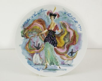 Albertine La Femme Liane Plate / Women of The Century by D'Arceau Limoges / French Women Of Fashion, By R. Ganeau