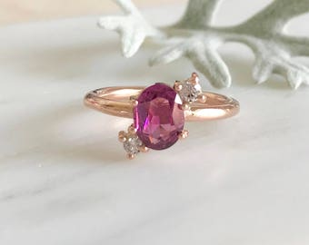 Pretty in Pink Ring - Rose Gold/Pink Tourmaline/White Diamonds