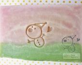 SoapRepublic Hearty Snowman Acrylic Soap Stamp