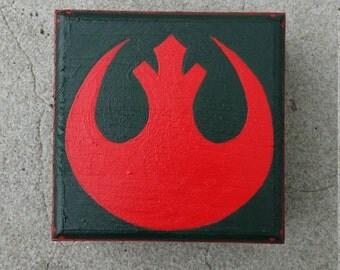 Hand Painted Rebel Alliance Star Wars Treasure / Gift Box