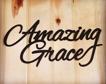 AMAZING GRACE metal word