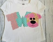 Second Puppy birthday shirt, 1st, one, 4th, four, dog t shirt, girl pink, theme