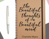Beautiful Thoughts|Personalised Notebook|Personalised Gift|Personalised JournalA5