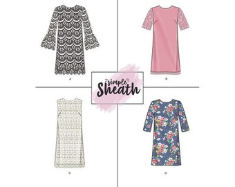 Simplicity Sewing Pattern 8293 Misses' Simple Sheath Dress New UNCUT