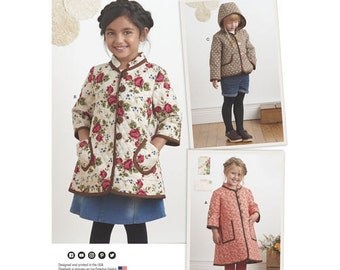 Simplicity Sewing Pattern 8305 A Child's Kid Girls' Coat and Jacket New UNCUT