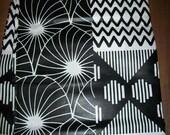 Black White Wax Print African fabric per yard, African Maxi skirt fabric, African clothing, African quality Prints