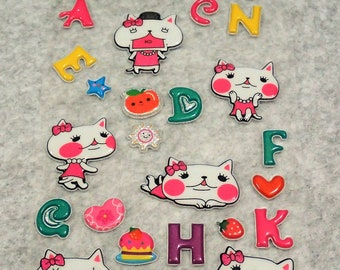 Mixed Silver Shining Glitter Cutie Stickers