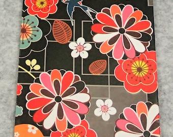 Handmade Black Oriental Flower Paper Bag - 20pcs