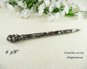 Hair Stick Longer Length Faux Shell Acrylic Limited Supply