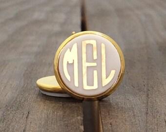Monogrammed Earrings Studs - Monogrammed Acrylic Earrings - Monogrammed Stud Earrings - Gold Monogrammed Earrings