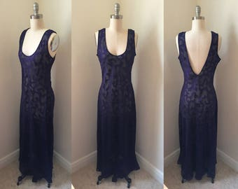 1990s Sheer Purple Nightgown // Victoria's Secret Lingerie