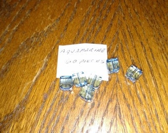 8mm Swarovski Crystal Cube Aquamarine