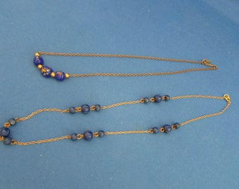Two Blue Beaded Necklaces