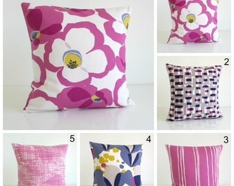 Throw Pillow, Decorative Pillow Cover, Pink Pillow Cover, Sofa Pillow, Pillow Sham, Cushion Cover, Accent Pillow - Wild Orchid Collection