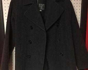 Vintage charcoal Pea Coat