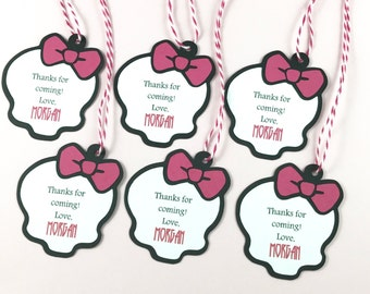 Monster High Party Favor Tags