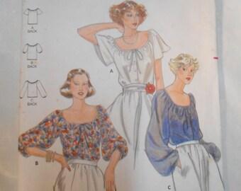 Vintage PATTERN Butterick 5885 Misses'  Blouse Sizes 12