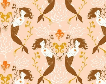 One YARD of Heather Ross Mendocino by Windham - Mermaids in Blush