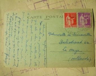 Chateau de Bonaguil - 1934 - Vintage French Postcard - Les Beaux Chateaux du Lot-et Garonne