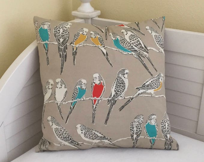 Retweet Birds in Fruit Cocktail (on Both Sides)  Indoor Outdoor Pillow Cover - Square, Euro and Lumbar Sizes