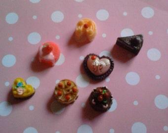 Kawaii decoden cake cabochon mix decoden deco diy charms  AA   7 pcs---USA seller