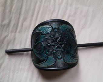 Leather Barrette / Large / Special