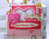 Happy Valentine Sequin  Greeting Card  Polly's Paper Studio Handmade